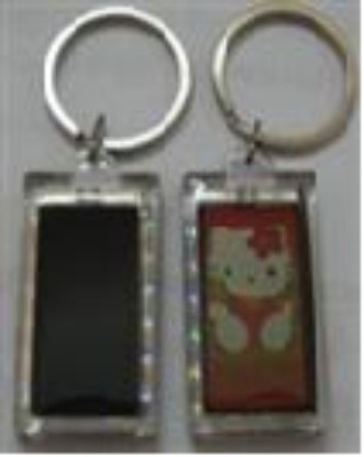 LCD Solar Keychain with two sides images blinking